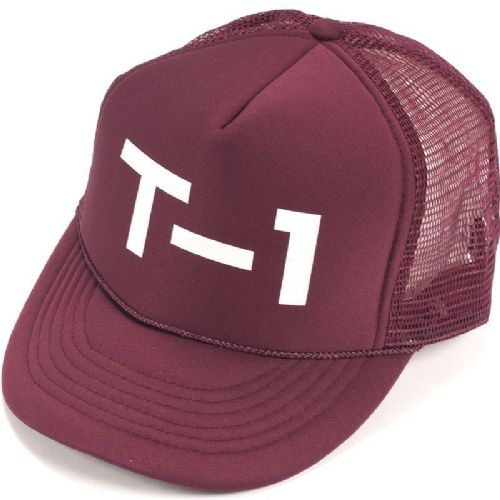 T1 Badge Mesh Cap Maroon